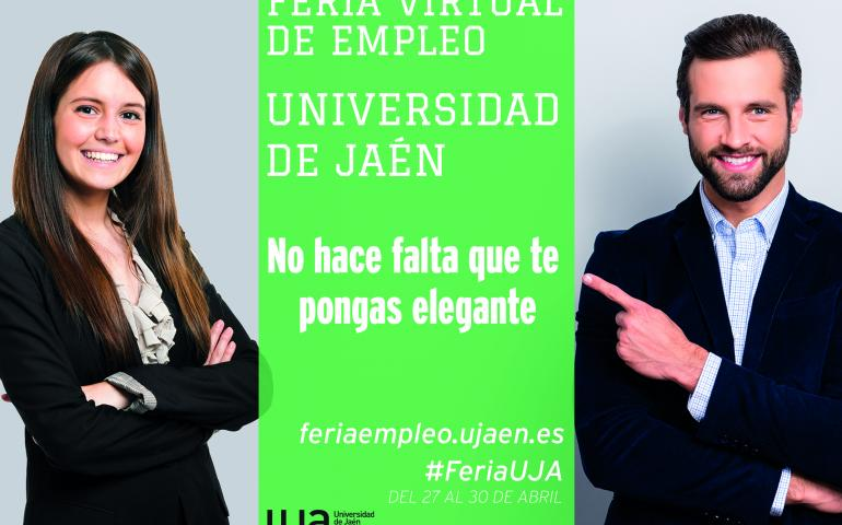 cartel feria de empleo virtual UJA